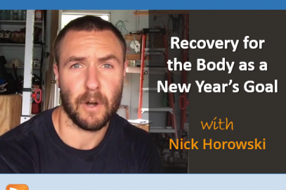 Recovery for the Body as a New Year's Goal